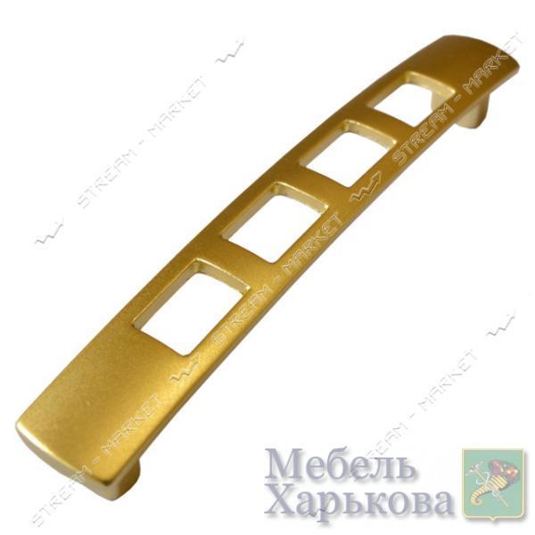 Ручка мебельная 5126 PETEK 128мм матовое золото - Мебельные ручки в Харькове