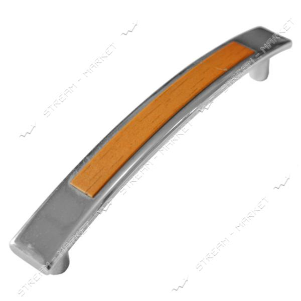 Ручка мебельная 5129 KARMEN 96мм хром-ольха