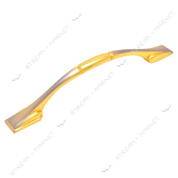 Ручка мебельная 8801 96мм золото-сатин