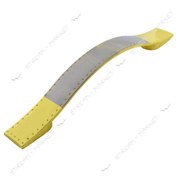 Ручка мебельная 630-128 золото-сатин