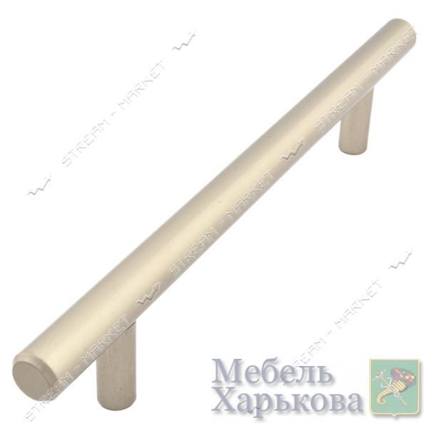Ручка мебельная рейлинговая 128 сатин - Мебельные ручки в Харькове