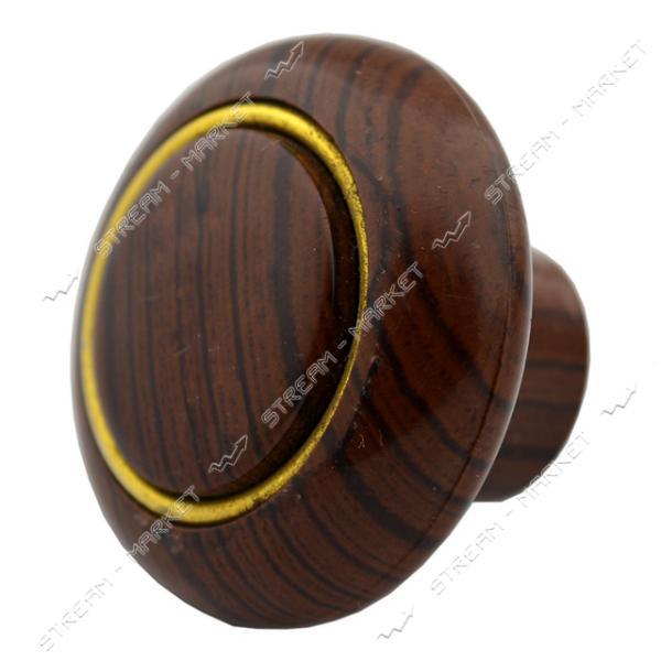 Ручка мебельная пластиковая Кнопка кольцо