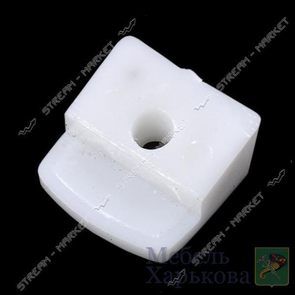 Стеклодержатель пластмассовый белый - Полкодержатели, стеклодержатели в Харькове