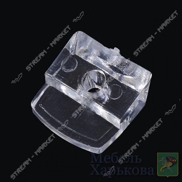 Стеклодержатель пластмассовый прозрачный - Полкодержатели, стеклодержатели в Харькове