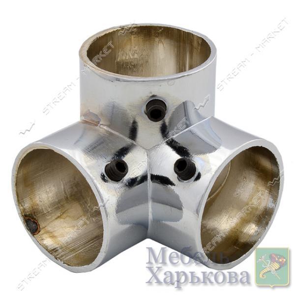 Соединитель для трубы d25мм 3-х лучевой - Комплектующие для мебели в Харькове