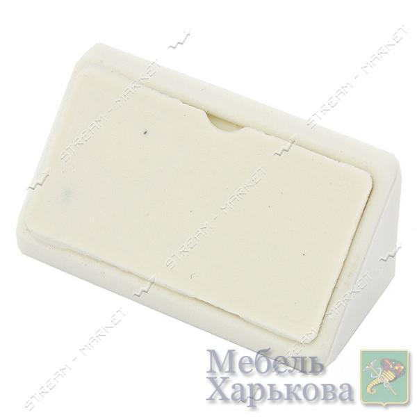 Уголок мебельный пластик двойной белый - Мебельные стяжки и уголки в Харькове
