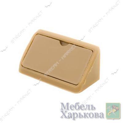 Уголок мебельный пластик двойной бук - Мебельные стяжки и уголки в Харькове