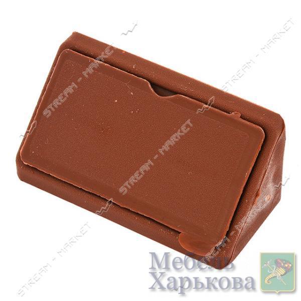 Уголок мебельный пластик двойной коричневый - Мебельные стяжки и уголки в Харькове