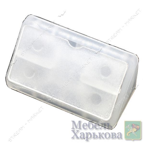Уголок мебельный пластик двойной прозрачный - Мебельные стяжки и уголки в Харькове