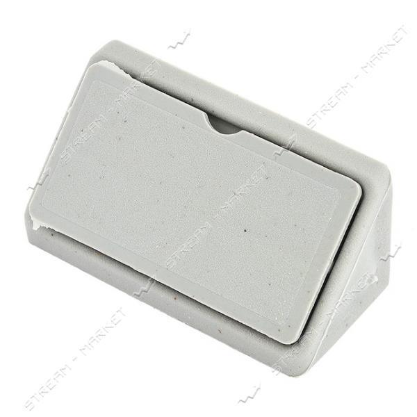 Уголок мебельный пластик двойной серый