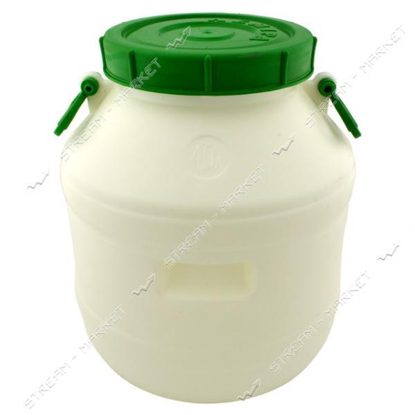 Бочка пропиленовая 40л белая пищевая ЛЕМИРА 1 сорт