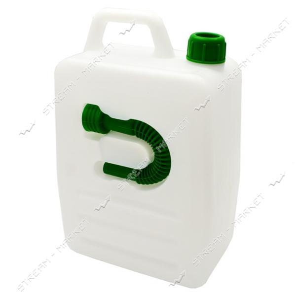 Канистра 10л с насадкой для заливки жидкостей Горизонт