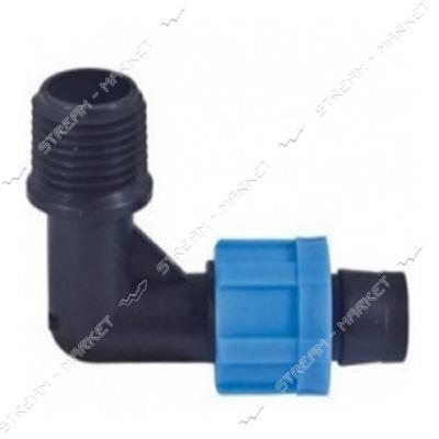 Presto-PS ME-0117-34 Стартер угловой для капельной ленты с резьбой 3/4 дюйма
