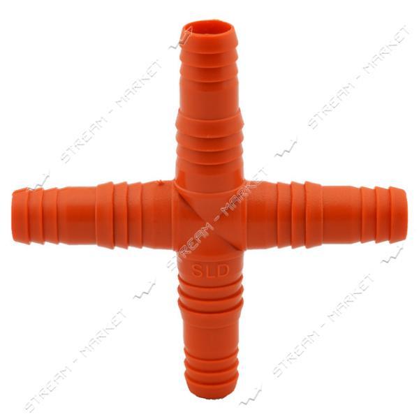 Разветвитель воды 'крест' 1/2'-5/8' Харьков SLD (048) (только от упаковки 10 шт)
