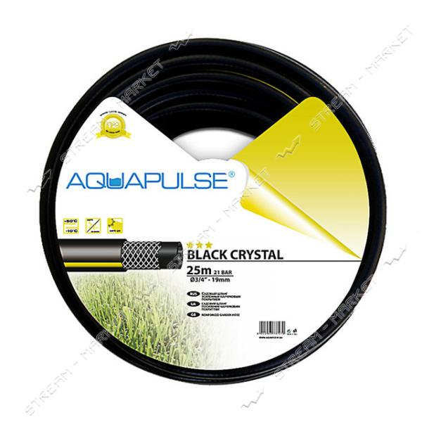 Шланг для полива трехслойный AQUAPULSE BLACK CRYSTAL 1 50м