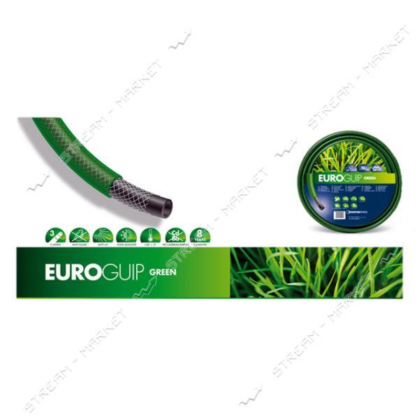 Шланг для полива трехслойный EUROGUIP GREEN ИТАЛИЯ 1/2 25м