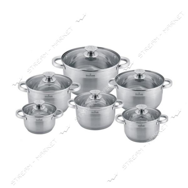 Maxmark набор посуды MK-3512В, (6кастрюль крышки)