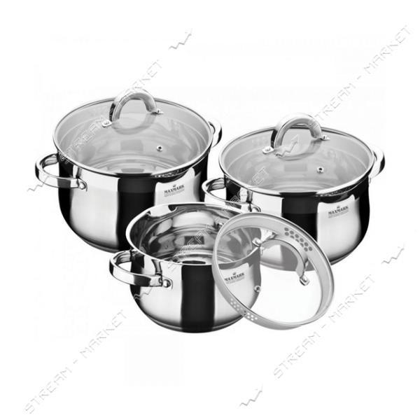 Maxmark набор посуды MK-BL6506B, (3кастрюли крышки)