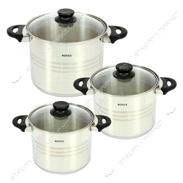 Rotex набор посуды RC022-6XL Milano, (3кастрюли   крышки)