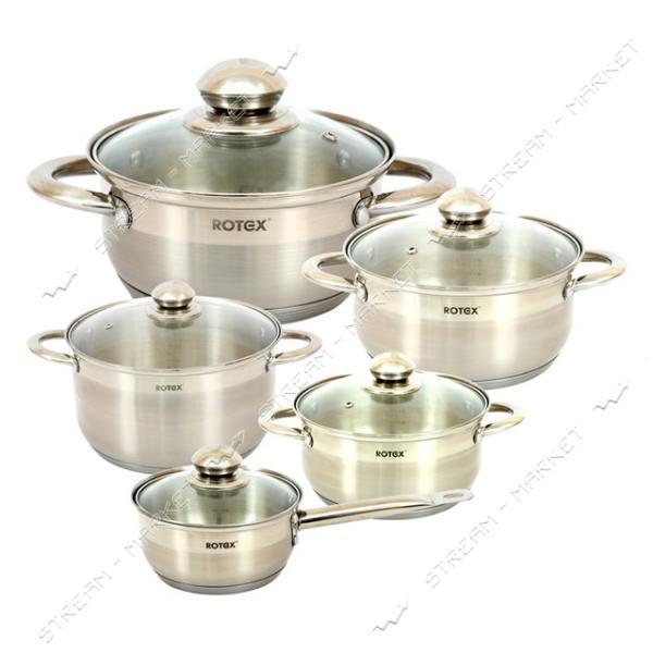 Rotex набор посуды RC304-10L Venezia, (4кастрюли, 1ковш крышки)