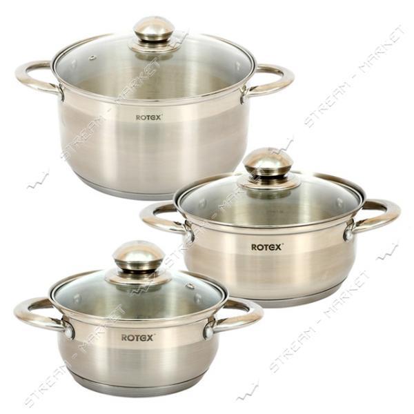 Rotex набор посуды RC304-6S Venezia, (3кастрюли крышки)