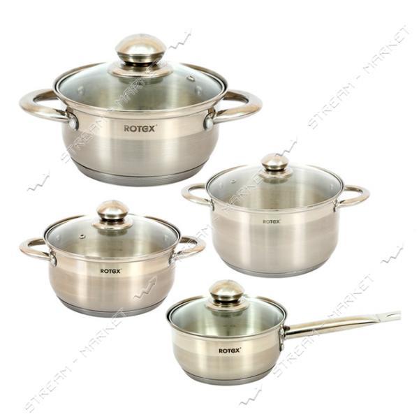 Rotex набор посуды RC304-8L Venezia, (4кастрюли крышки)