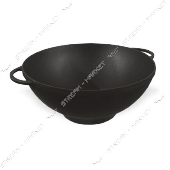 СИТОН сковорода WOK d=30см, h=9см, чугун, с литыми ручками, (без крышки)
