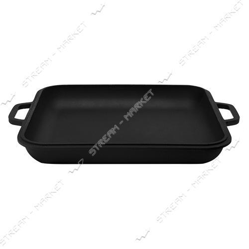 СИТОН крышка-сковорода 28*28см, h=3см, чугун, с литыми ручками