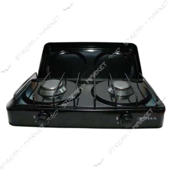 Газовая плита таганок с крышкой 2 комфорки (ЭЛНА г.Винница)