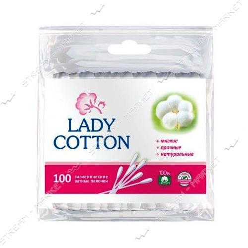 Lady Cotton Палочки ватные в пакете 100шт