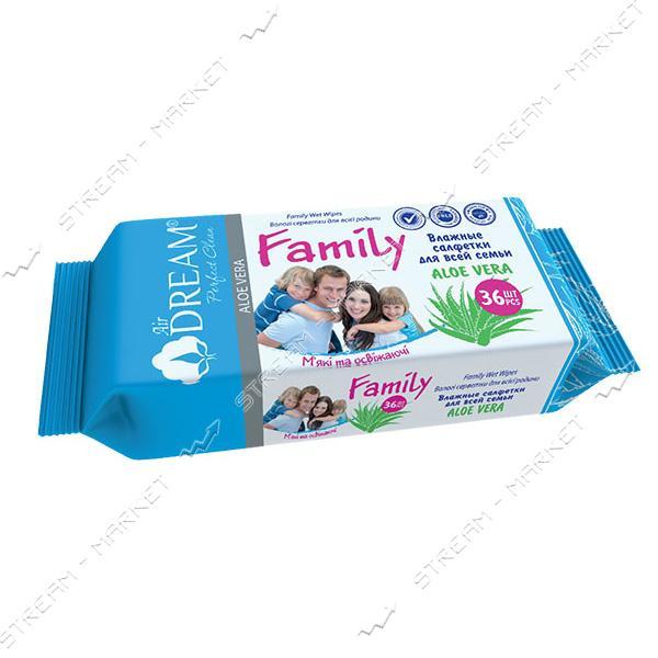 Air Dream Салфетки влажные Family 36шт