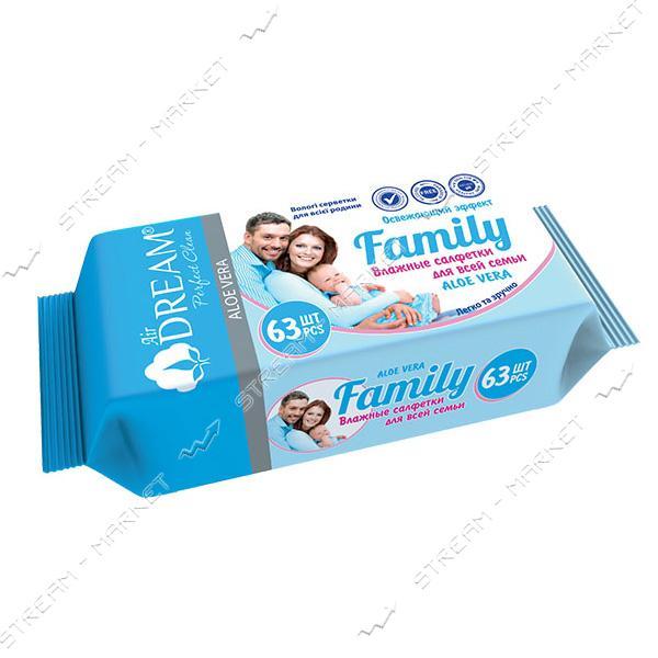 Air Dream Салфетки влажные Family 63шт