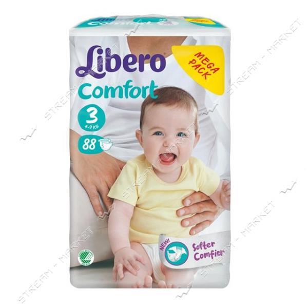 Libero Подгузники детские Comfort 3 (4-9кг) 88шт