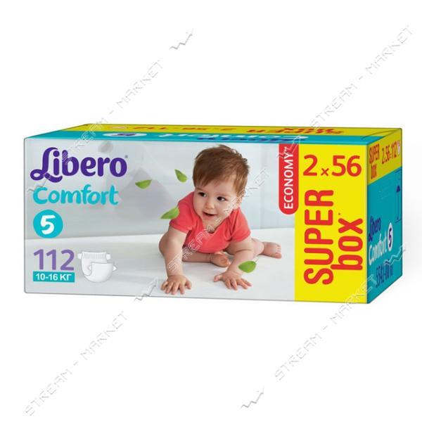 Libero Подгузники детские Comfort 5 (10-16кг) 112шт