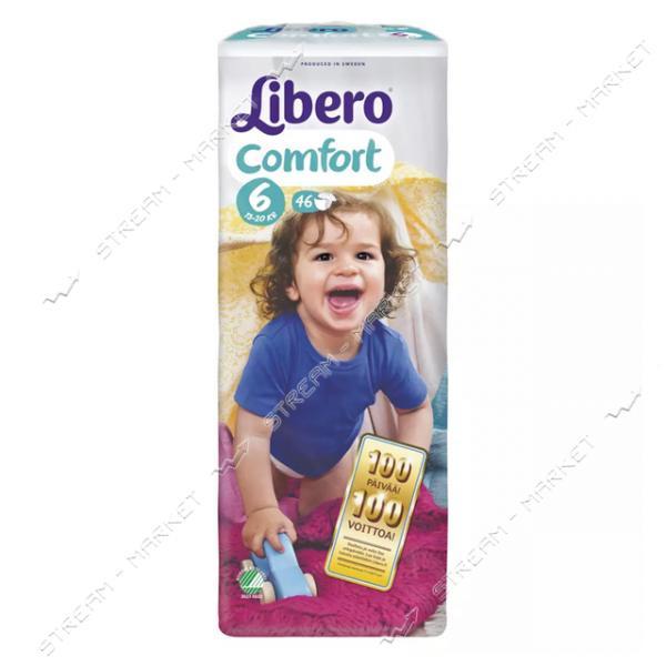 Libero Подгузники детские Comfort 6 (12-22кг) 46шт