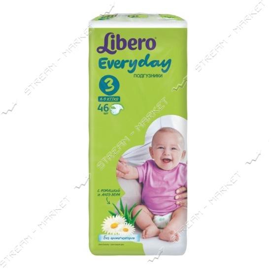 Libero Подгузники детские Everyday 3 (4-9кг) 46шт