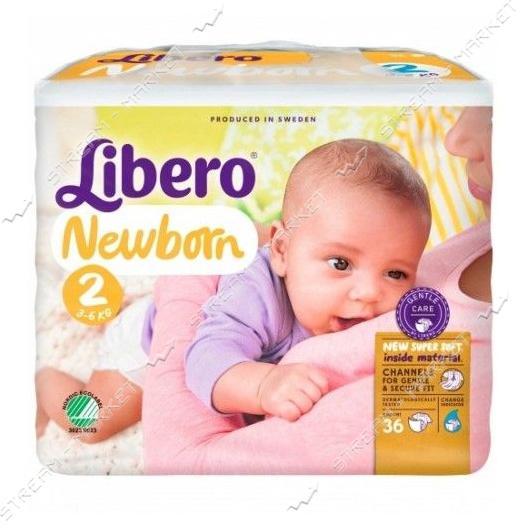 Libero Подгузники детские Newborn 2 (3-6кг) 36шт