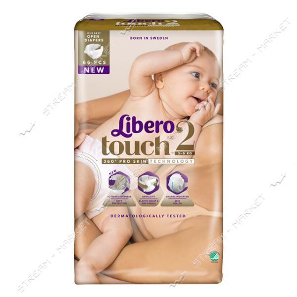 Libero Подгузники детские Touch 2 (3-6кг) 66шт