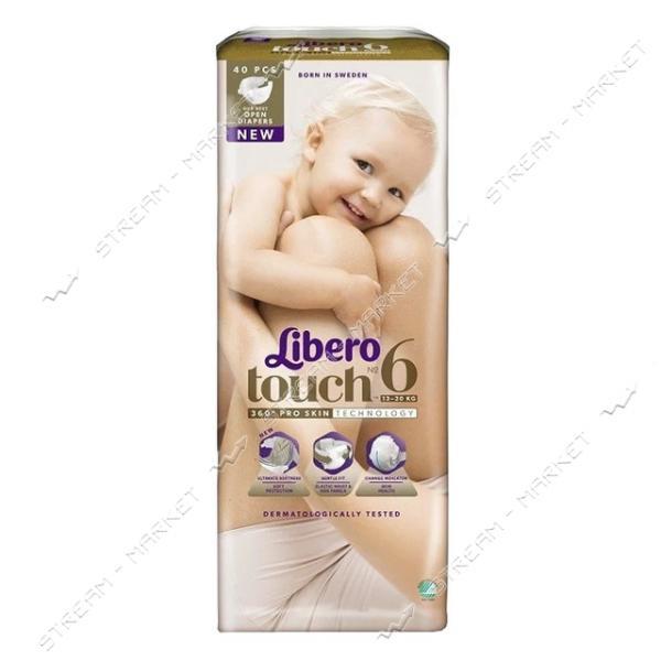 Libero Подгузники детские Touch 6 (13-20кг) 40шт