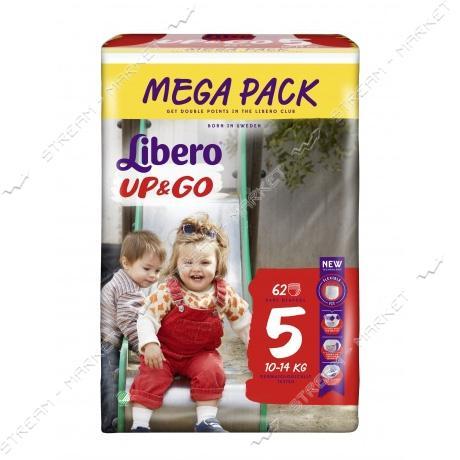 Libero Подгузники-трусики детские Up&Go 5 (10-14кг) 62шт