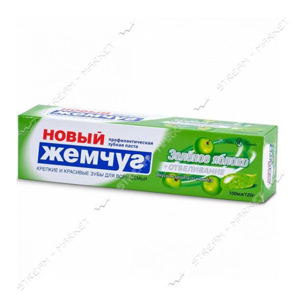 Новый Жемчуг Зубная паста Зеленое яблоко Отбеливание 100мл