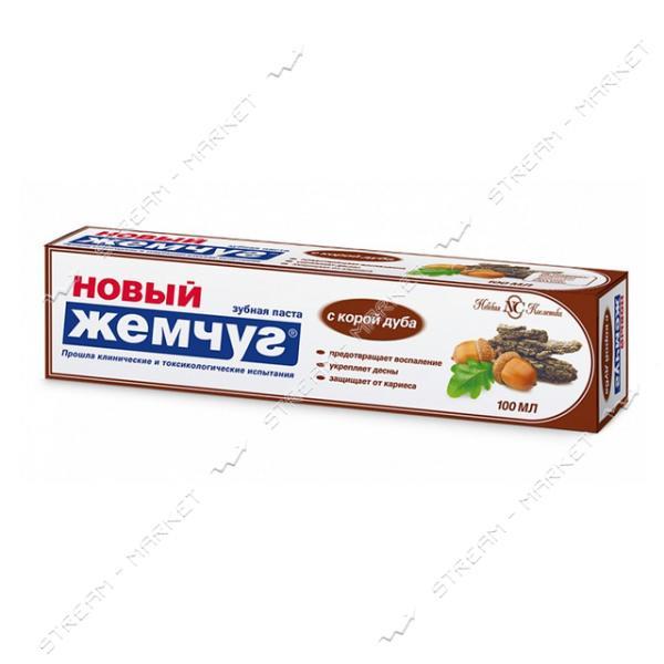 Новый Жемчуг Зубная паста Кора дуба 100мл