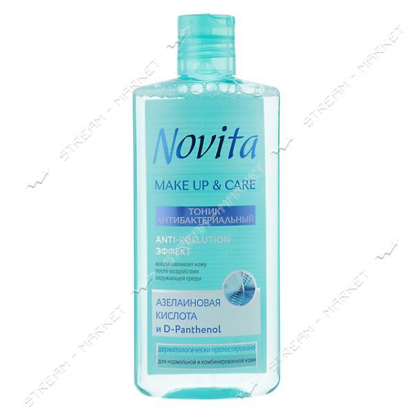 Тоник антибактериальный Novita Make Up & Care 200мл