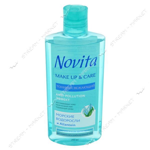 Тоник освежающий Novita Make Up & Care 200мл