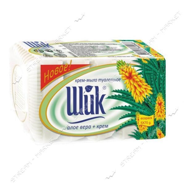 Шик Крем-мыло туалетное Алоэ вера крем 5*70г