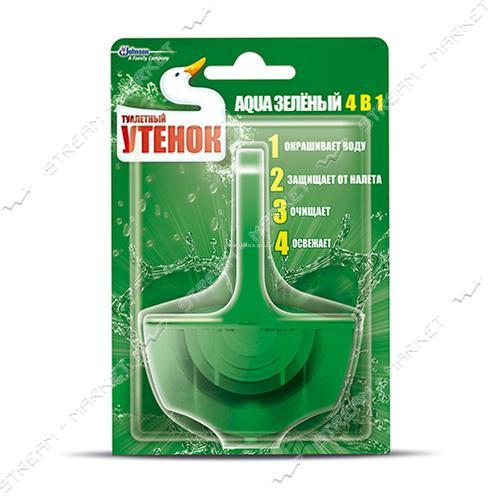Туалетный Утенок Подвесной блок для унитаза Aqua 4в1 Зеленый 40г