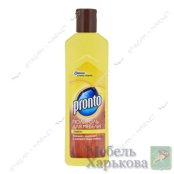 Pronto Полироль для мебели Лимон 300мл - Товары для ремонта и ухода за мебелью в Харькове