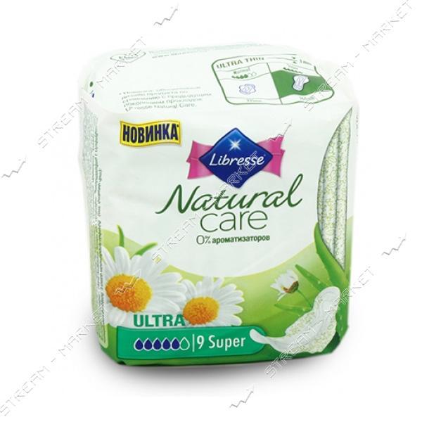 Libresse Прокладки гигиенические Natural Care Ultra Super 5капель 9шт