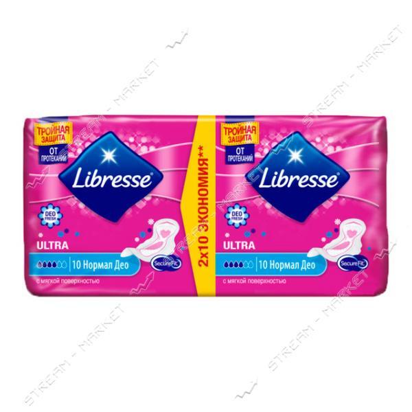 Прокладки гигиенические Libresse Ultra Normal Soft Deo 4капли 20шт