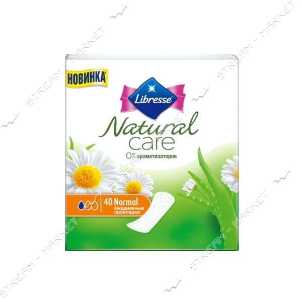 Libresse Ежедневные гигиенические прокладки Natural Care Pantyliners Normal 40шт